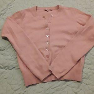 Adorable vintage pink angora blend sweater